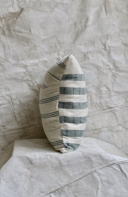 Cuttalossa Cotton Striped Pillow - hunter green