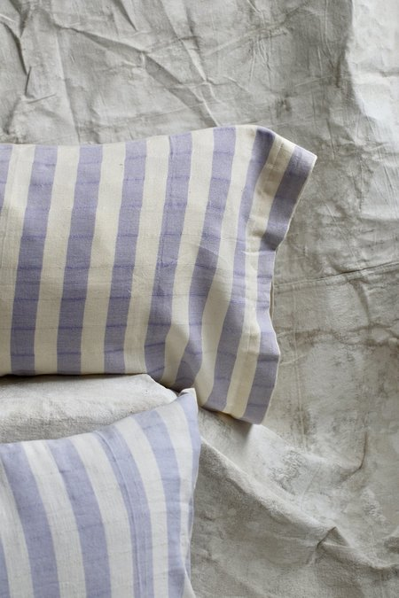 Cuttalossa Stripped Pillowcase Set - Lavender
