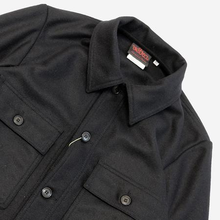 Vetra Melton Wool Overshirt - Marine Navy