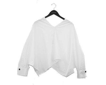 Aeron Oversized Triangle Sleeve Top - White