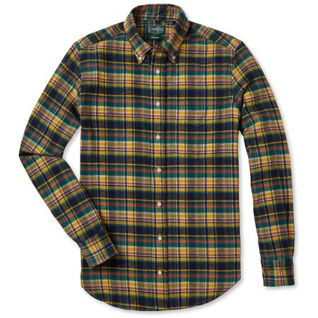 Gitman Vintage Flannel Shirt - Hunter Plaid