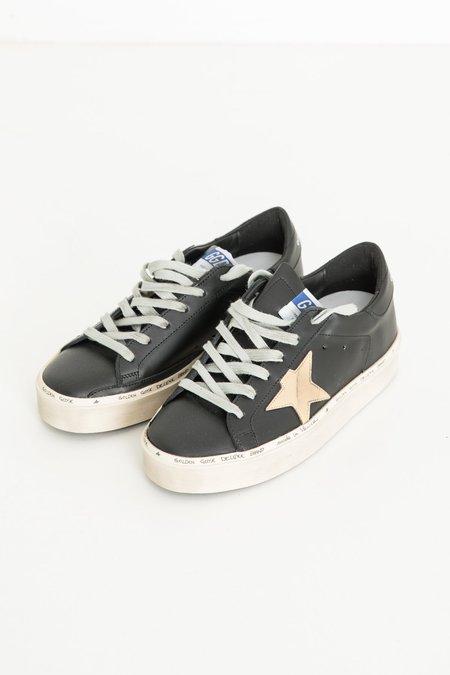 Golden Goose Hi Star Sneakers - Black/Gold Star