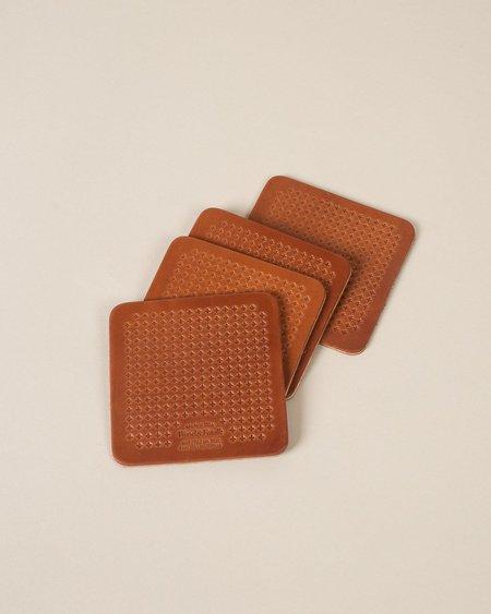 Wood&Faulk Coaster and Trivet - Saddle Brown