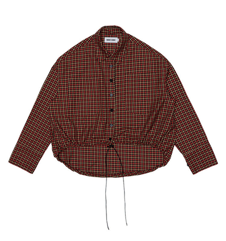 ROCKET X LUNCH HEM STRING CHECK SHIRTS - Brown check