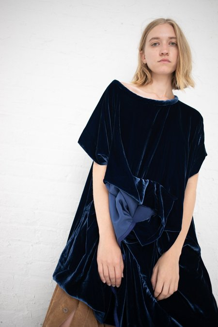 Bernhard Willhelm Velvet Dress - Navy Blue
