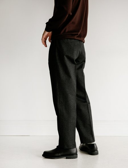 Auralee Washed Finx Chino Tapered Pants - Mix Black