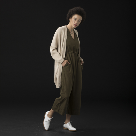 Ali Golden Kimono Cardigan Sweater - Oatmeal