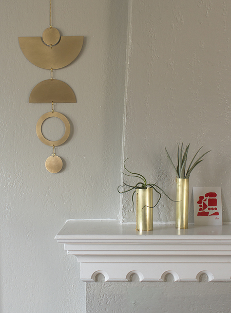 Circle and Line Wall Hanging No. 4 - bronze