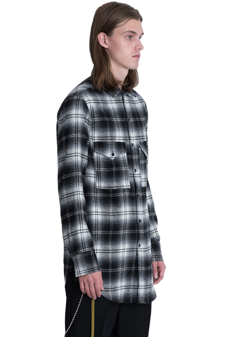Song For The Mute Silk Flannel Shirt - Black