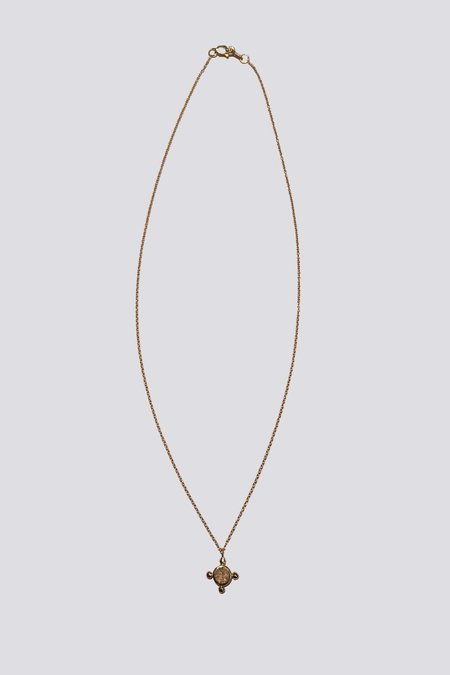 Another Feather Small 14K Gold Coin Necklace