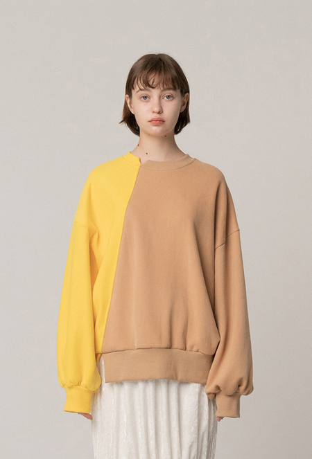 ROCKET X LUNCH Diagonal Color Block Sweatshirt