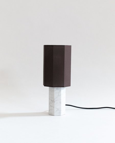 Louise Roe Small Marble Table Lamp - White