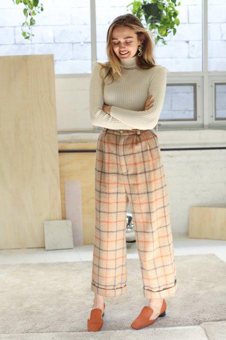 Kordal Alma Wool Trouser - Plaid
