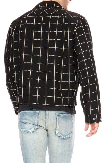 Hope Fifty Grid Check Boxy Shirt Jacket - Gold Check