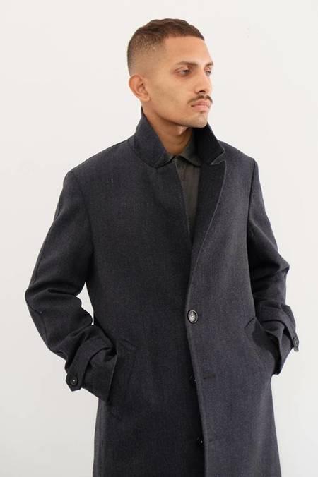 Massimo Alba Rain Wool Top Coat
