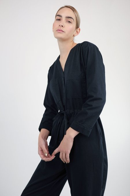 Micaela Greg Tie Coverall - Black