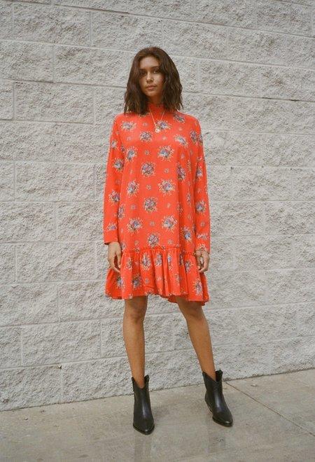 Ganni Kochar Mini Dress - Red
