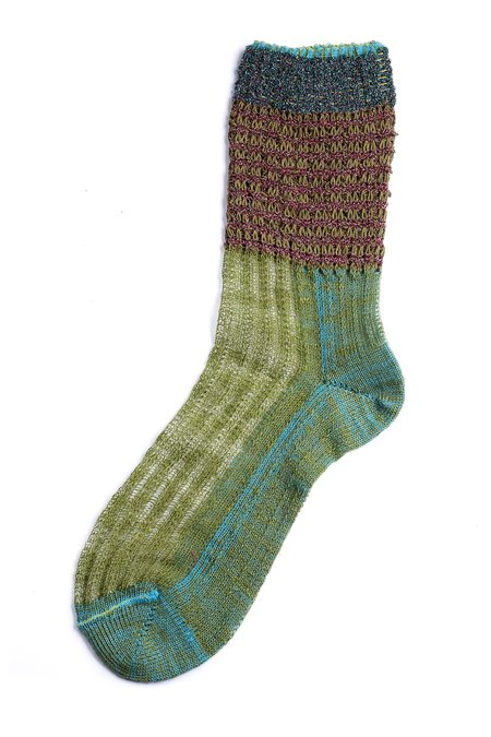 DèPio 616 Socks - Green Decor