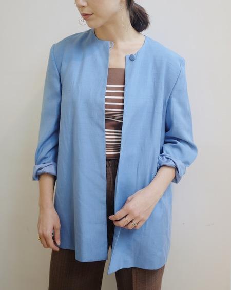 Hey Jude Vintage Silk Jacket - BLUE