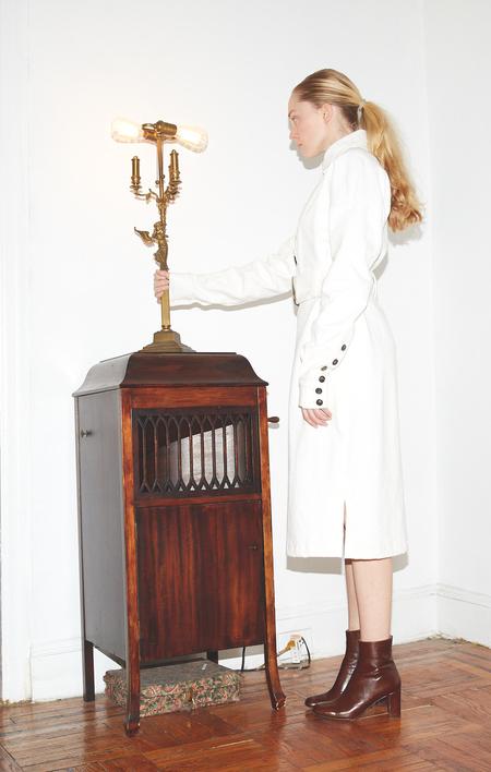 INGA-LENA The Magda Trench COAT - WHITE