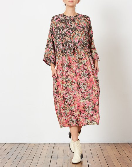 Anntian Simple Dress - Print L Pink