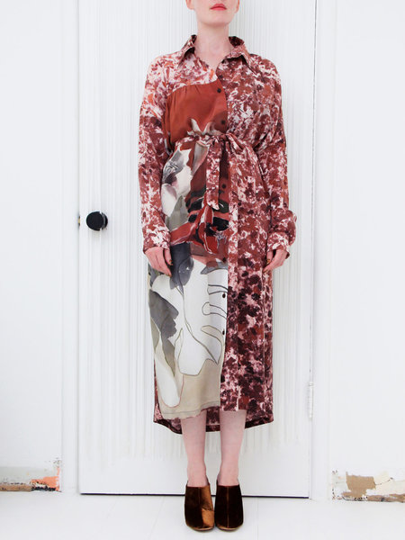 ANNTIAN Dress - J.Hoffmann Print Brown