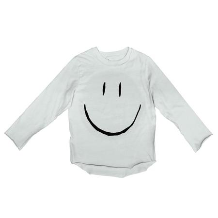 Kids Nico Nico Baby And Child Happy Long Sleeved T-shirt - Ecru White