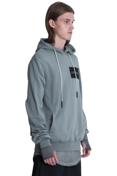 Tobias Birk Nielsen Base Hood with Serigraphy - Grey
