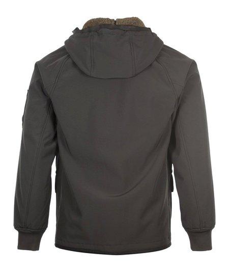 CP Company Soft Shell Fleece Lined Jacket - Black Coffee