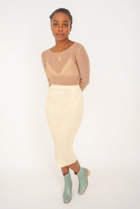 Vintage Issey Miyake Pleats Please Skirt - Light Peach
