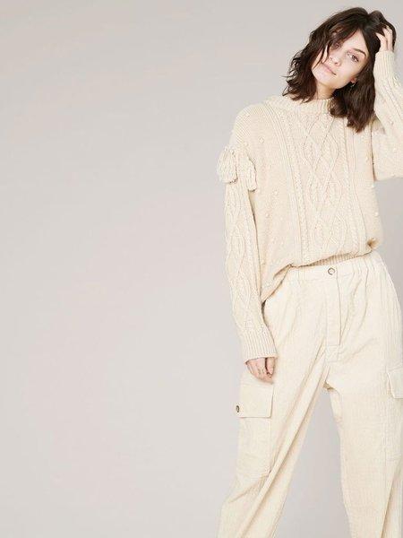Sessun Cork Knit sweater - Sandshell