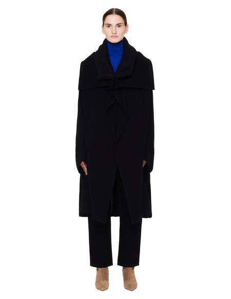 Ys Wool Coat - Black