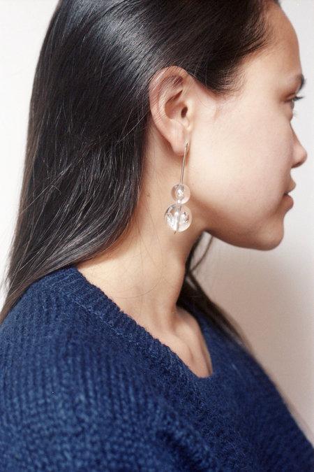 Swim to the Moon Double Domo Earrings