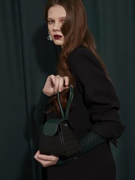 Atelier Park Color Block Handle Bag - Black