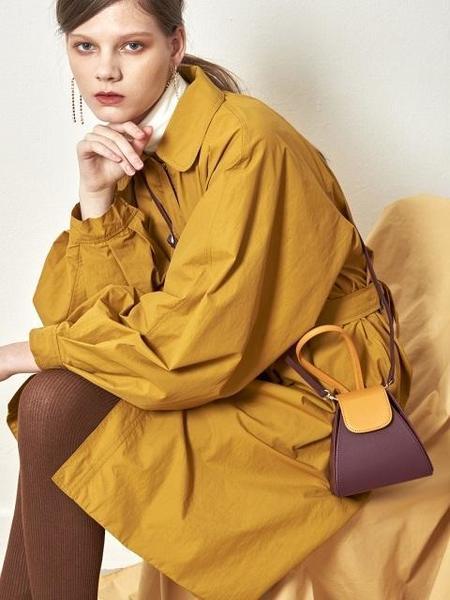 Atelier Park Color Block Handle Bag - Purple