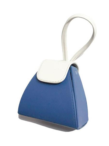 Atelier Park Color Block Handle Bag - Sky Blue