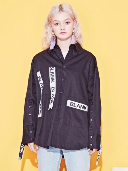 Blank Tape Boxy Shirt - Black