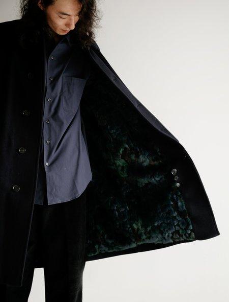 Stephan Schneider Weave Night Wool Coat - Black
