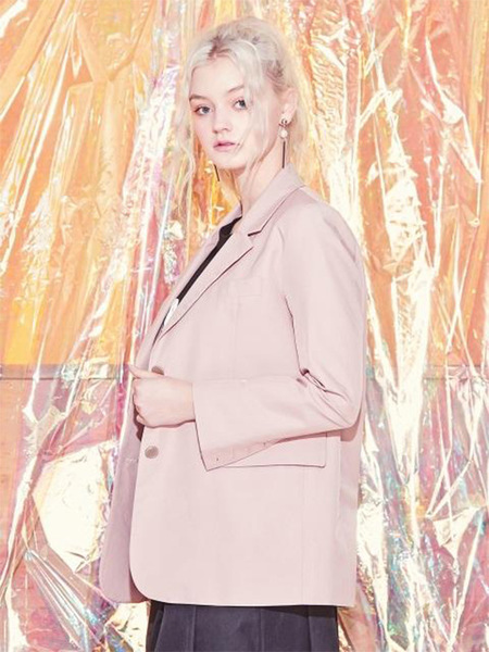 Blank Soft Tailored Jacket - Pink