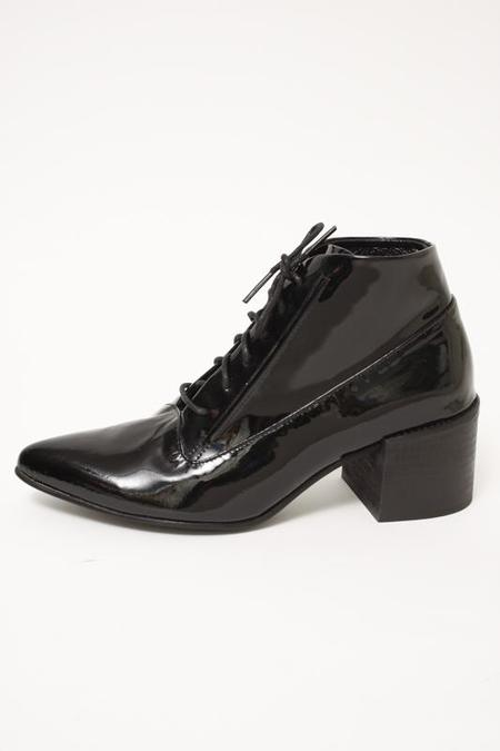 LAX ANDRE LACE UP BOOT - BLACK PATENT