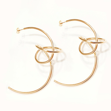 Aoko Su Atomic Hoop Earrings