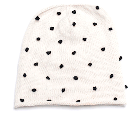 KIDS Cabbages & Kings Candy Dot Hat - Ivory/Black Dot