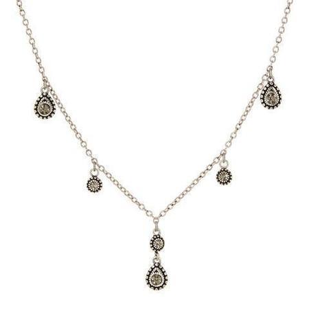 Luv AJ The Moroccan Dangle Charm Necklace - Silver