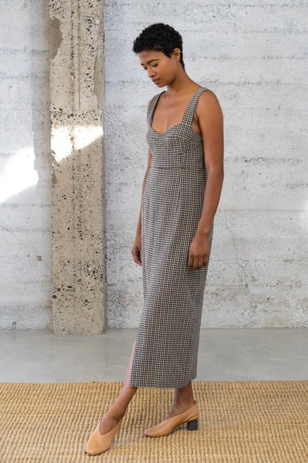 Waltz Bralette Checked Wool Dress