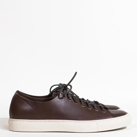 Buttero Tanino Leather Low Sneakers - Dark Brown