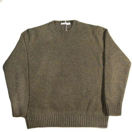 Inis Meáin Donegal C/N Plated Knit Sweater - Loden