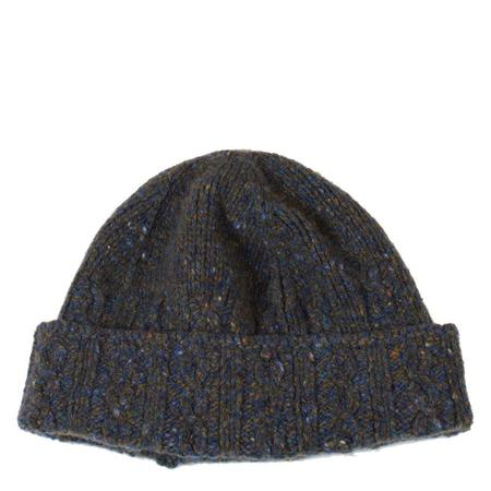Inis Meáin Donegal Cable Knit Hat - Olive