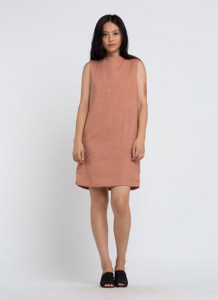 Kaarem Dust Sleeveless Dress - Clay