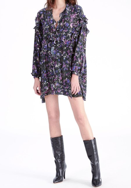 IRO Equate Dress - Black/Purple
