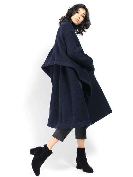 Henrik Vibskov Fab Coat - Midnight Navy